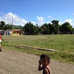 Walking alongside the children